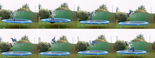 zábava s trampolínou